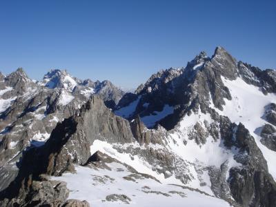 La Meije et les Agneaux, depuis les Dômes du Monêtier